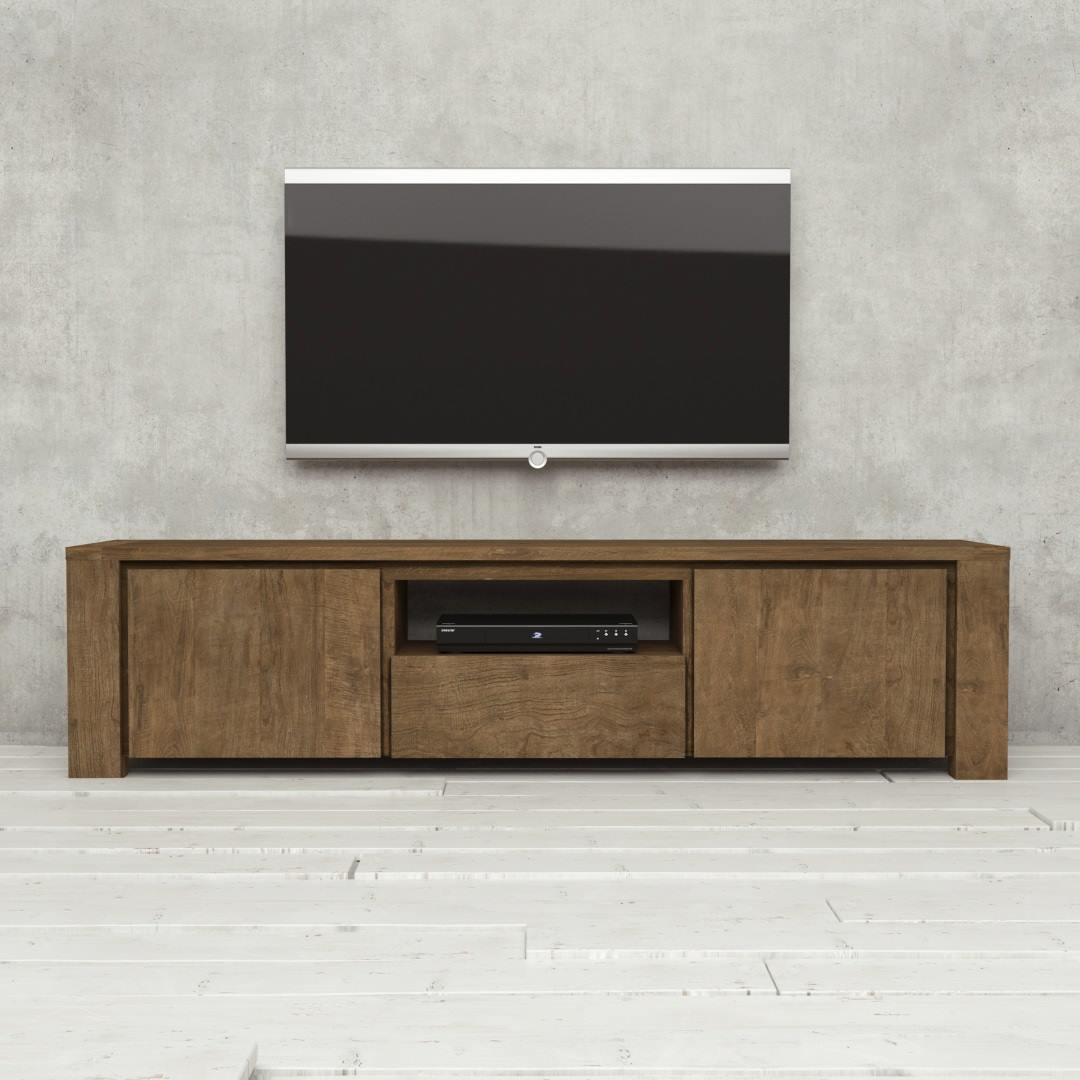 Urban Woodcraft | 72'' TECA TV Stand Café Noir 1 MAIN