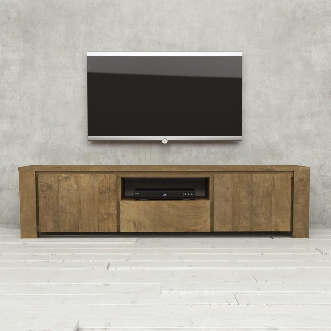 Urban Woodcraft | 72'' TECA TV Stand Reclaimed Wood 1 MAIN