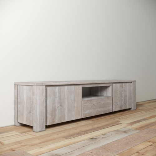 Urban Woodcraft | 72'' TECA TV Stand White Wash 4
