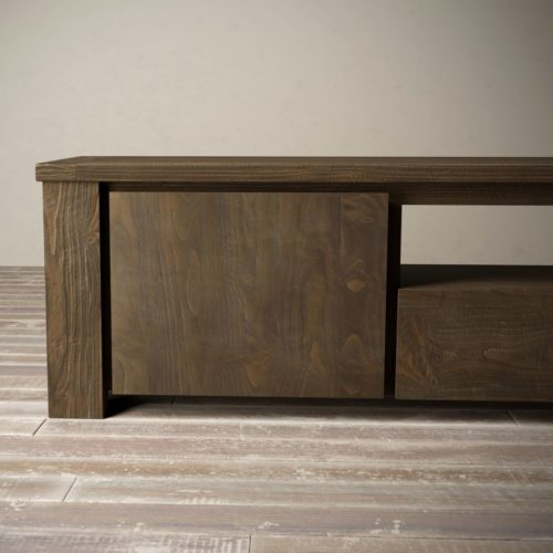 "Urban Woodcraft | 72"" Salvaged Espresso TECA TV Stand 12"