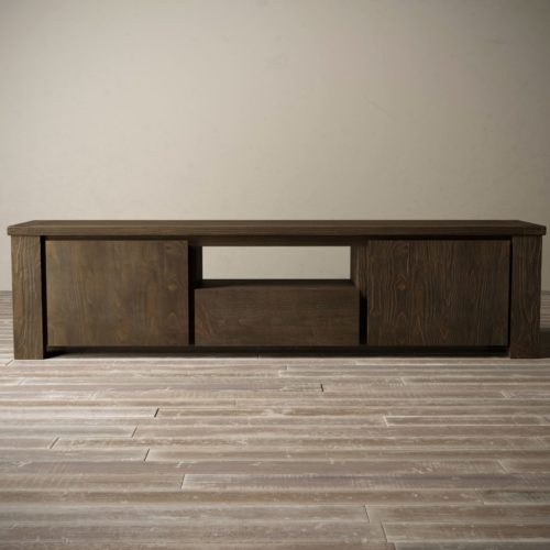 "Urban Woodcraft | 72"" Salvaged Espresso TECA TV Stand 6"