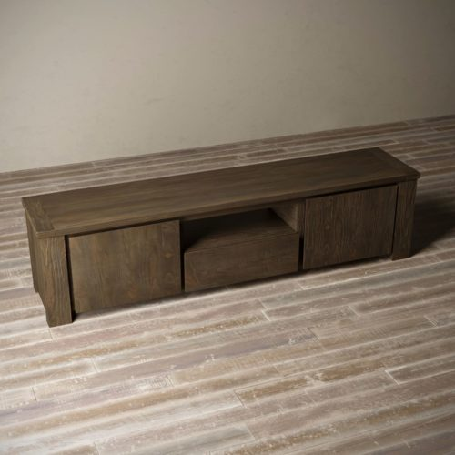 "Urban Woodcraft | 72"" Salvaged Espresso TECA TV Stand 8"
