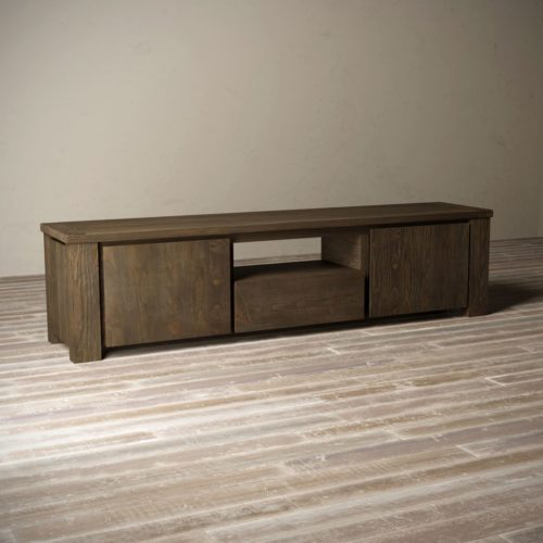 "Urban Woodcraft | 72"" Salvaged Espresso TECA TV Stand 9"