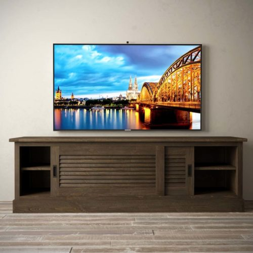 Urban Woodcraft | 75'' Amalfi Salvaged Espresso TV Stand 3 MAIN
