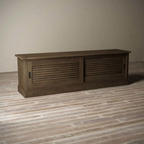 Urban Woodcraft | 75'' Amalfi Salvaged Espresso TV Stand 5
