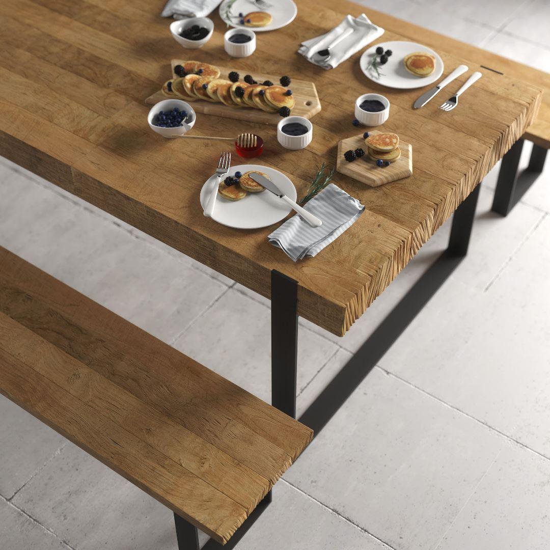 Urban Woodcraft   75'' Soma Natural Bench 2 MAIN