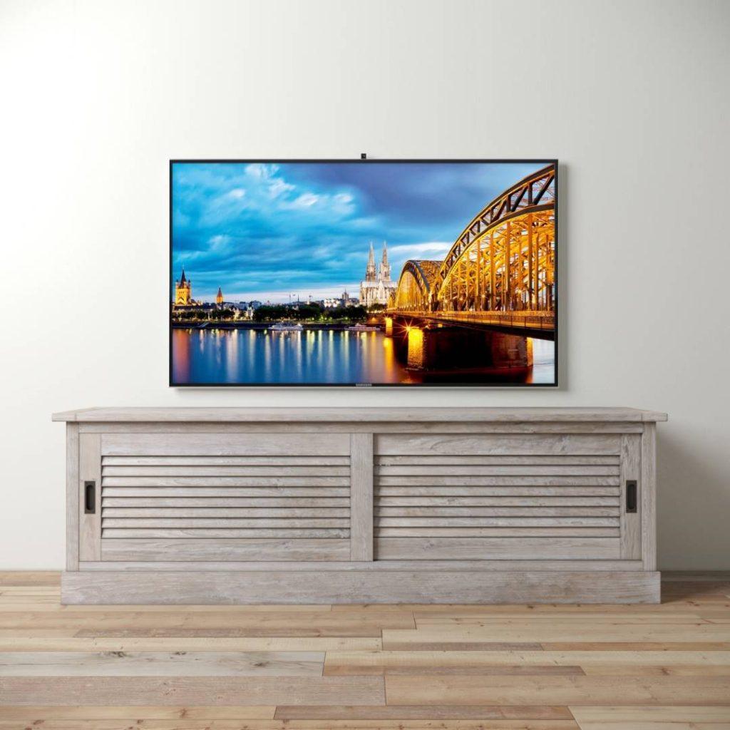 e6ab0b09b0d0 Urban Woodcraft | 75'' White Wash Amalfi TV Stand 1 MAIN