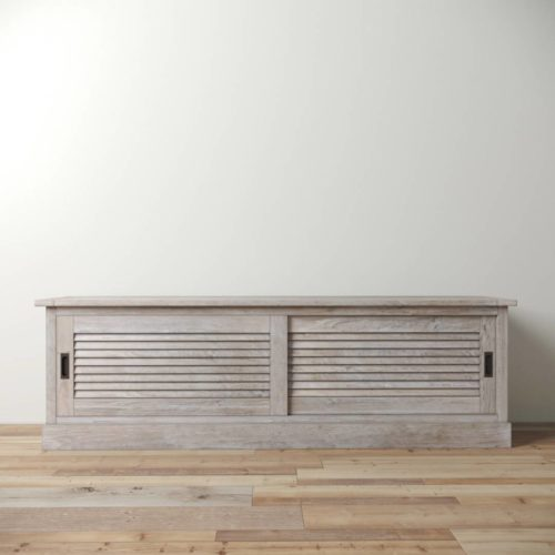 Urban Woodcraft | 75'' White Wash Amalfi TV Stand 2