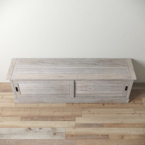 Urban Woodcraft | 75'' White Wash Amalfi TV Stand 3