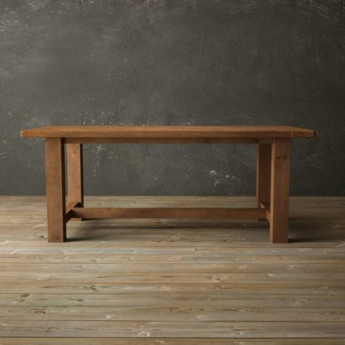 "Urban Woodcraft | 78"" Antique Pine I-Base Dining Table 1 MAIN"