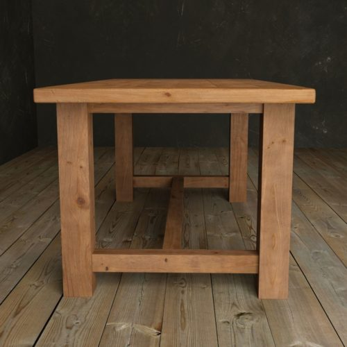"Urban Woodcraft | 78"" Antique Pine I-Base Dining Table 3"