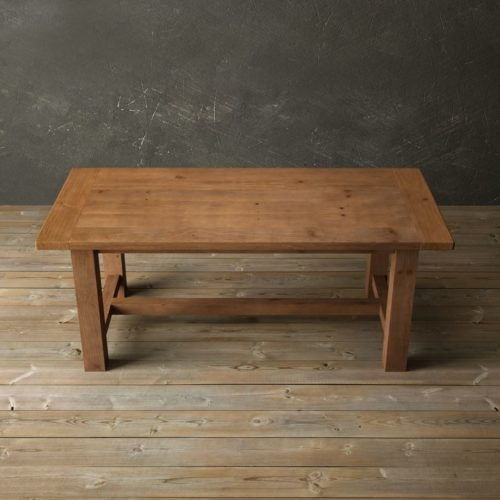 "Urban Woodcraft | 78"" Antique Pine I-Base Dining Table 4"