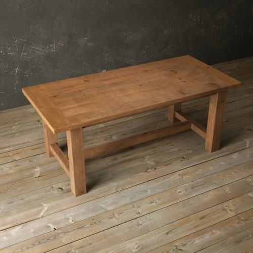 "Urban Woodcraft | 78"" Antique Pine I-Base Dining Table 5"