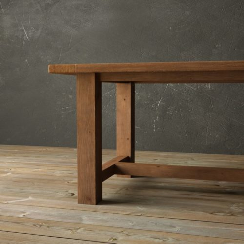 "Urban Woodcraft | 78""' Antique Pine I-Base Dining Table 6"