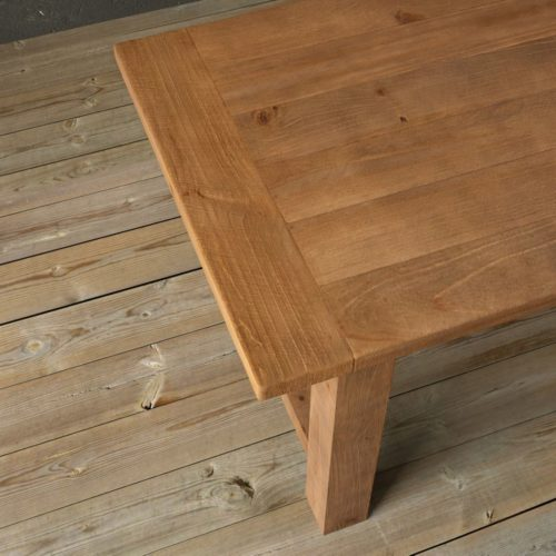 "Urban Woodcraft | 78"" Antique Pine I-Base Dining Table 7"