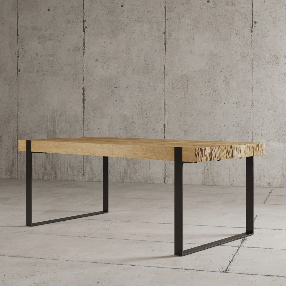 "Urban Woodcraft | 78"" Natural Hudson Dining Table 5"