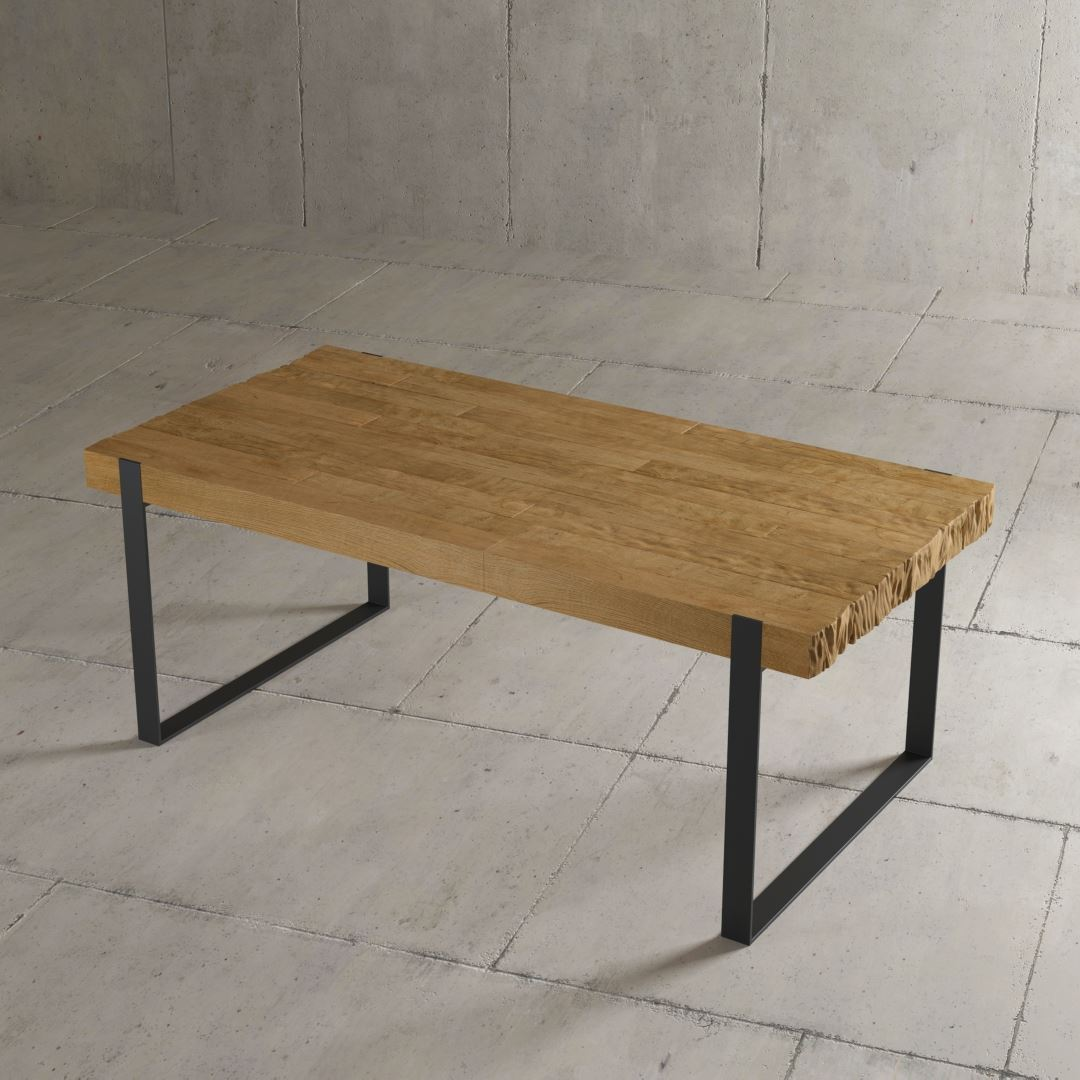 "Urban Woodcraft | 78"" Natural Hudson Dining Table 6"