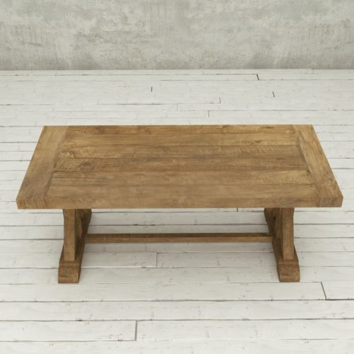 "Urban Woodcraft | 78"" Reclaimed Teak Natural X-Base Dining Table 4"