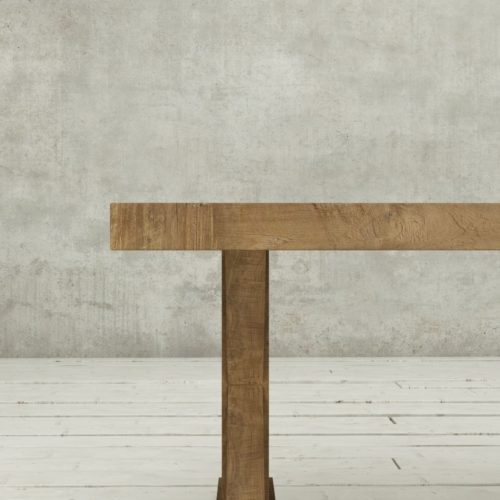 "Urban Woodcraft | 78"" Reclaimed Teak Natural X-Base Dining Table 6"
