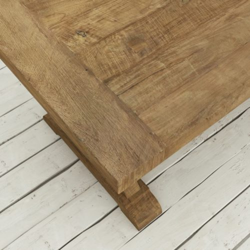 "Urban Woodcraft | 78"" Reclaimed Teak Natural X-Base Dining Table 7"