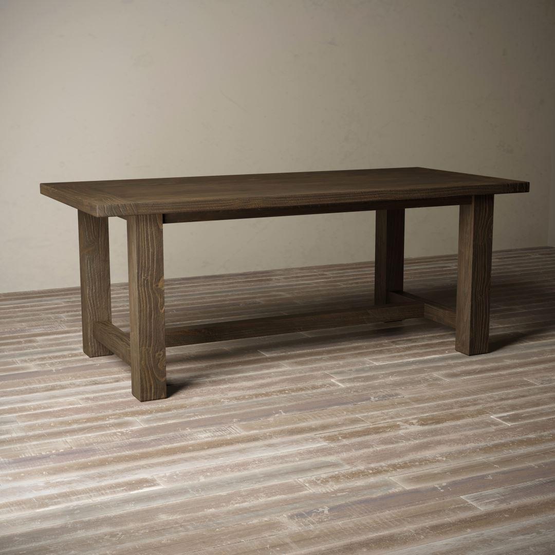 "Urban Woodcraft | 78"" Salvaged Espresso I-Base Dining Table 1 MAIN"