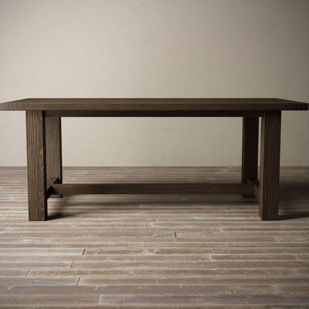 "Urban Woodcraft | 78"" Salvaged Espresso I-Base Dining Table 2"