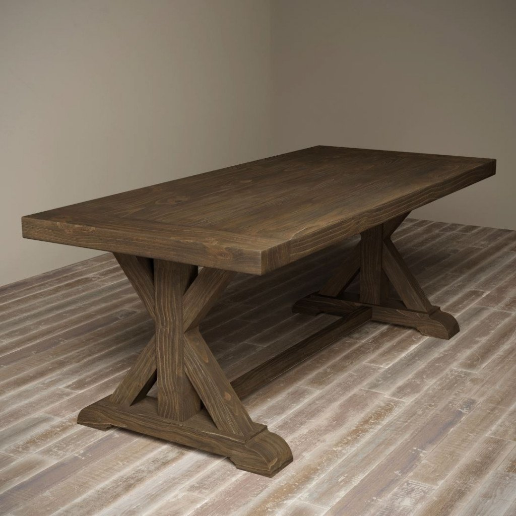 78 X Base Dining Table Salvaged Espresso Urban Woodcraft