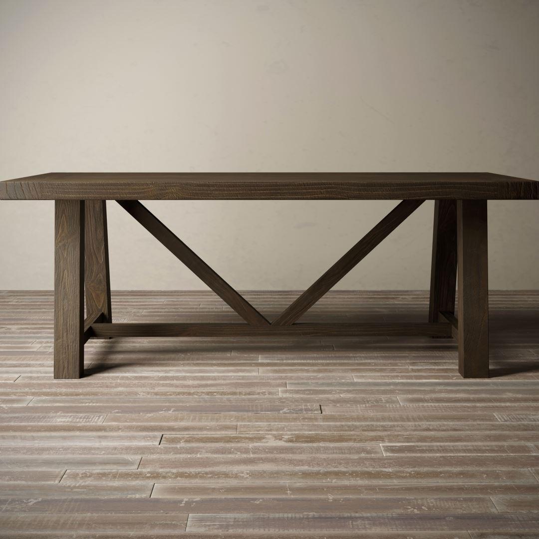 "Urban Woodcraft | 78"" Salvaged Espressol Farmhouse Dining Table 1 MAIN"