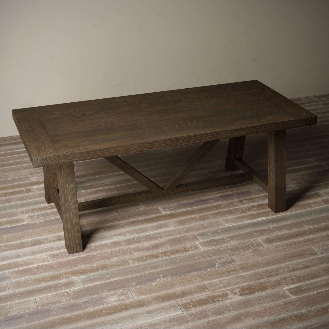 "Urban Woodcraft | 78"" Salvaged Espressol Farmhouse Dining Table 5"