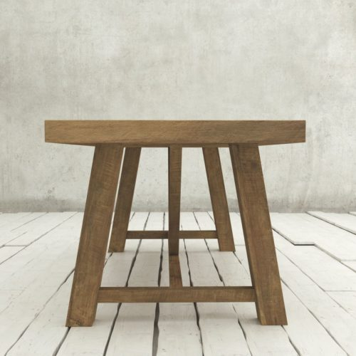 "Urban Woodcraft | 78"" Reclaimed Teak Natural Farmhouse Dining Table 3"