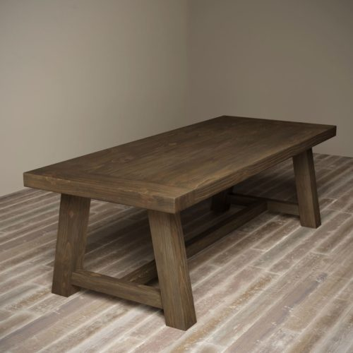 "Urban Woodcraft | 98""Salvaged Espresso Farmhouse Dining Table 1 MAIN"