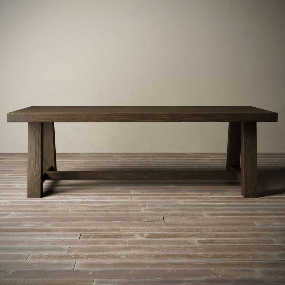 "Urban Woodcraft | 98"" Salvaged Espresso Farmhouse Dining Table 2"