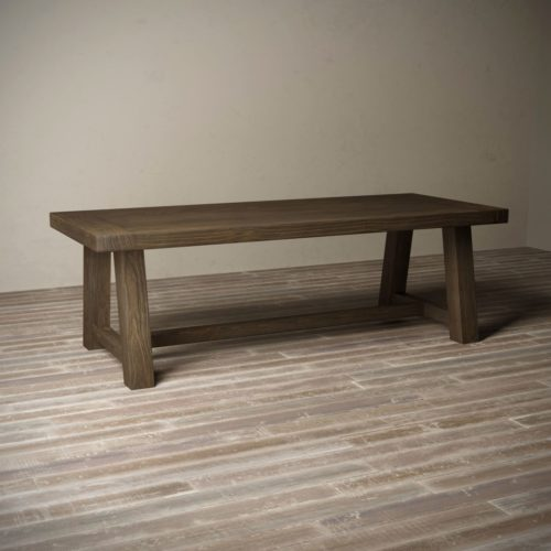 "Urban Woodcraft | 98"" Salvaged Espresso Farmhouse Dining Table 3"