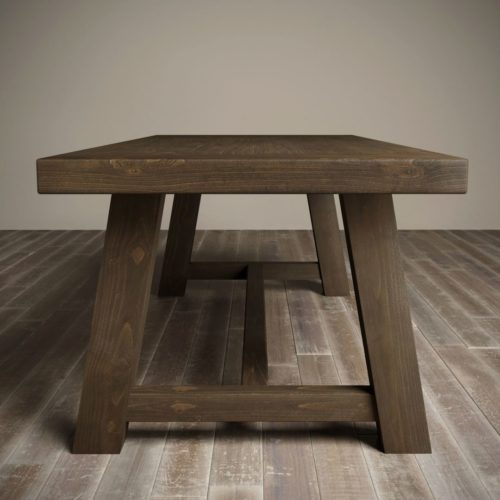 "Urban Woodcraft | 98"" Salvaged Espresso Farmhouse Dining Table 4"