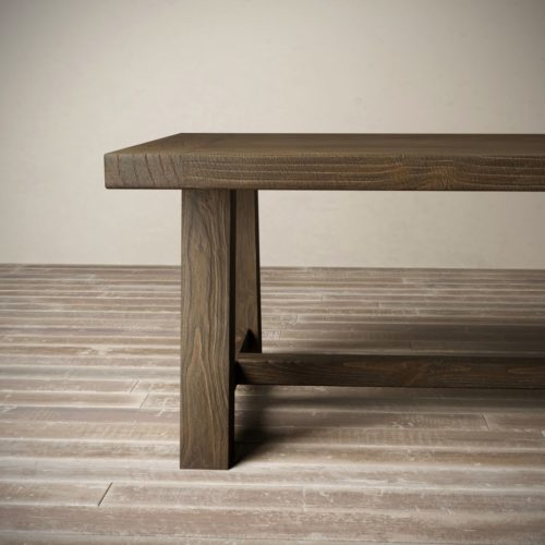 "Urban Woodcraft | 98"" Salvaged Espresso Farmhouse Dining Table 7"