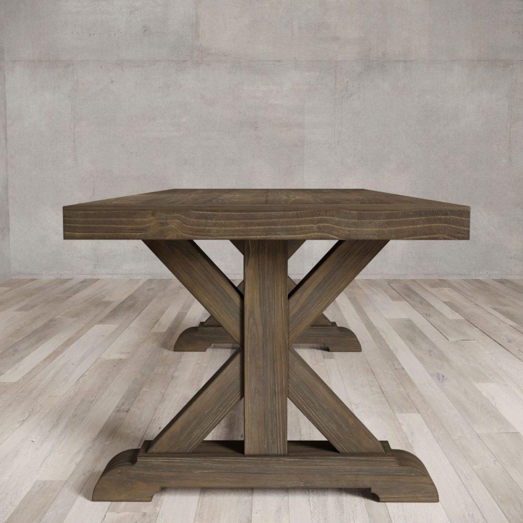 98 X Base Dining Table Salvaged Espresso Urban Woodcraft