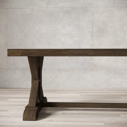 "Urban Woodcraft | 98"" Salvaged Espresso X-Base Dining Table 5"