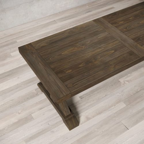 "Urban Woodcraft | 98"" Salvaged Espresso X-Base Dining Table 6"