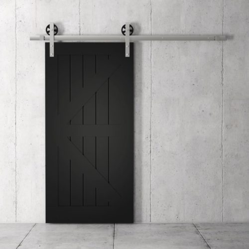 Urban Woodcraft | British Brace Espresso Barn Door 2