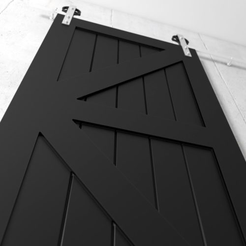 Urban Woodcraft | British Brace Espresso Barn Door 5