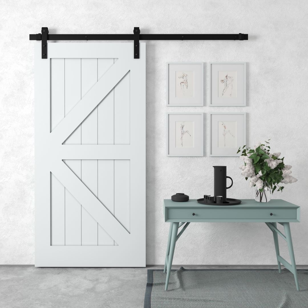 Urban Woodcraft Barn + Door Barn Door British Brace Interior Sliding Grey Modern Sleek Architectural Door