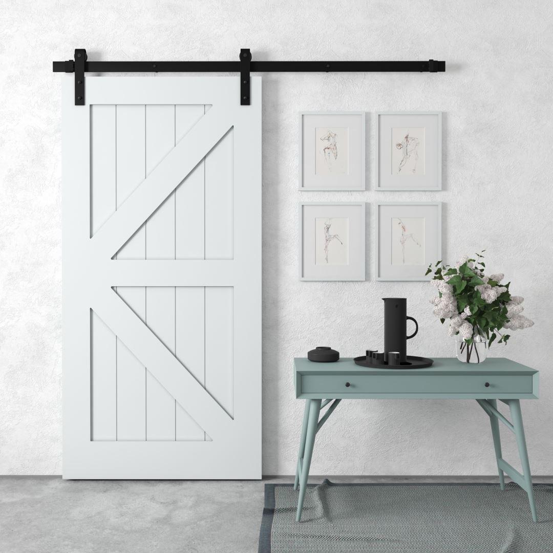 Urban Woodcraft Barn + Door Barn Door British Brace Interior Sliding Grey Modern Sleek Architectural Door