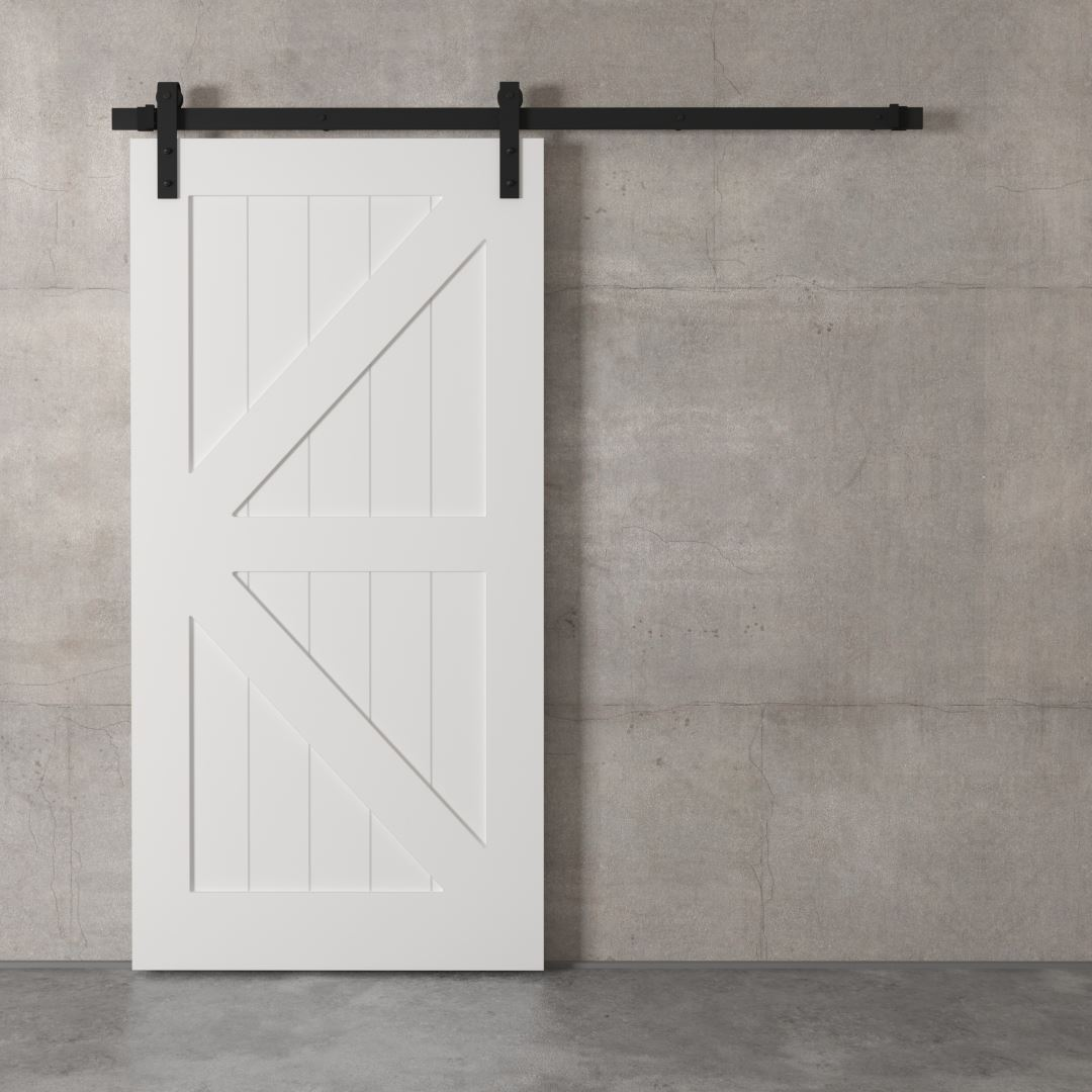 Urban Woodcraft | British Brace White Barn Door 2