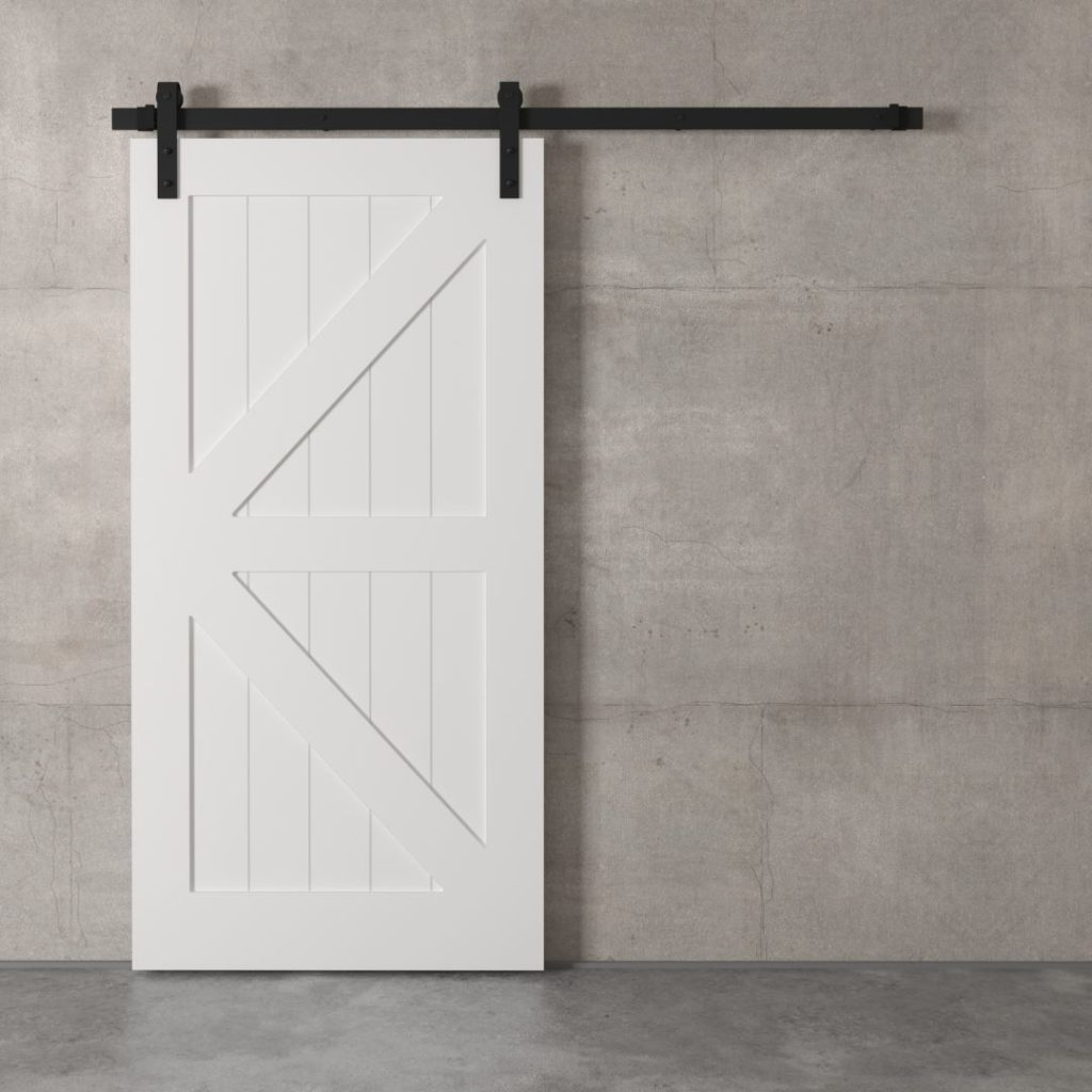 40 Quot British Brace Barn Door White Urban Woodcraft