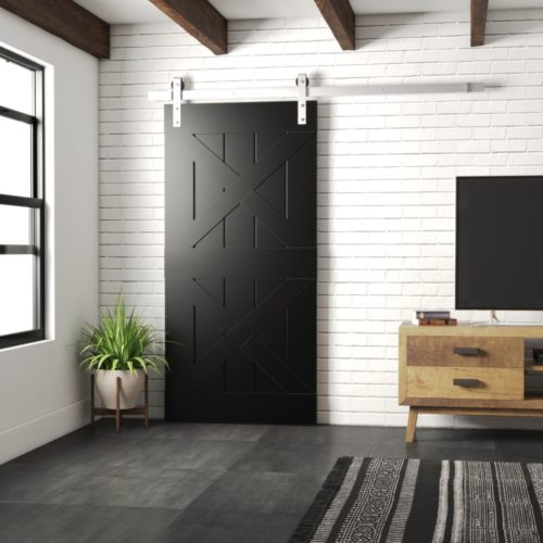 Urban Woodcraft | Double X Espresso Barn Door 1 MAIN