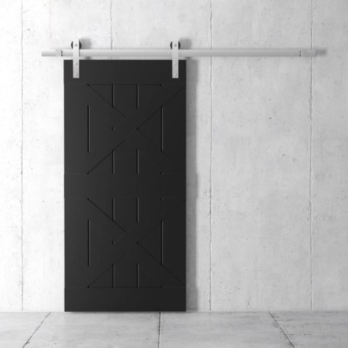Urban Woodcraft | Double X Espresso Barn Door 2