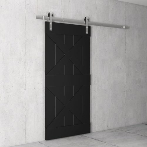 Urban Woodcraft | Double X Espresso Barn Door 3