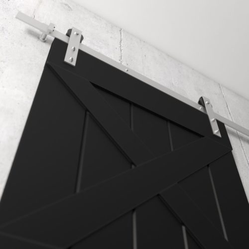 Urban Woodcraft | Double X Espresso Barn Door 6