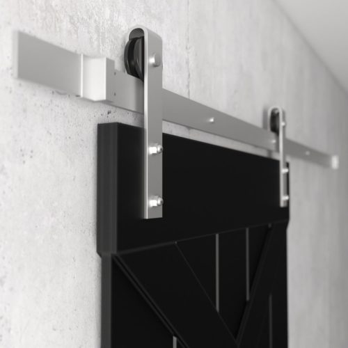Urban Woodcraft | Double X Espresso Barn Door 7