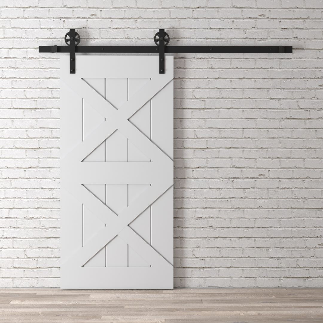Urban Woodcraft | Double X Grey Barn Door 3